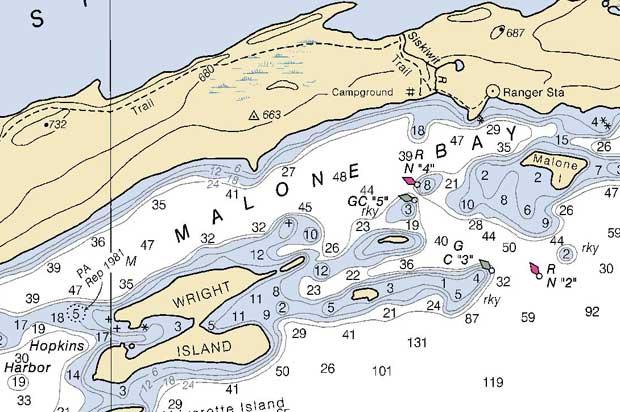 Navigation read a marine chart part 2 paddlinglight com